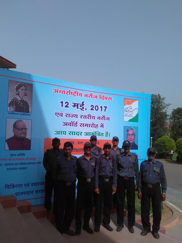 ZZZ security team at Birla auditorium for event of Rajasthan nursing council & Rajasthan health department  .