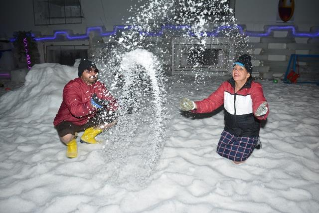There is nothing permanent except change but the fun in playing in real snow remain same at #Snow_Park_Goa