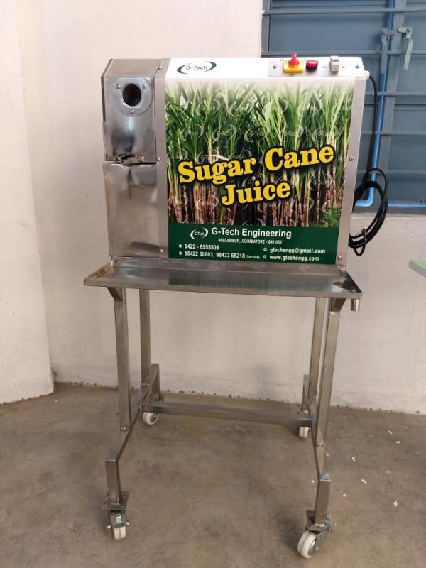 Table Top Sugarcane Juicer Machine. G-Tech Engineering Company Is Manufacture Of Varies Model Of Sugarcane Juicer Machine, Table Top Sugarcane Juicer Machine Is Compact And High Effective Model. In This Table Top Sugarcane Juicer Machine You can Crush Nearly 100 Liters Of Juice Per Hour. Table Top Sugarcane Juicer Machine Is Design As Easy to Operate, Easy To Maintain, Easy To Clean.