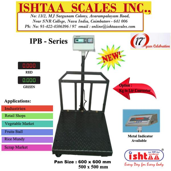 Ishtaa Scales Inc.,  is the leading Weighing Scale  manufacturer in  Coimbatore. Proudly PRESENTS Ishtaa - IPB - Series  Pan available in MS  #Industrialweighingscale #Platformweighingscale #Parcelweighingscale #ScrapWeighingscale #Meats& Cheeseweighingscale #Fruits& vegetableweighingscale #Hotelsweighingscale #CargoWeighingscale #HeavydutyWeighingscale  CALL: 09843016028 Web: www.ishtaascales.com