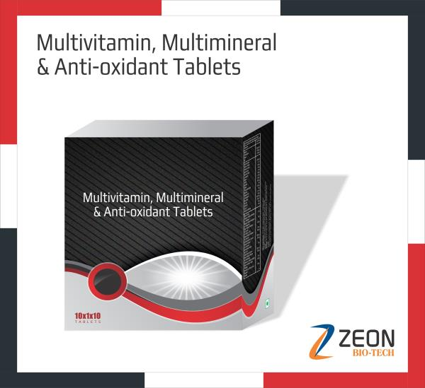 We are Leading Manufacturer Of Multivitamin, Multiminerals & Anti Oxidant Tablet Form.