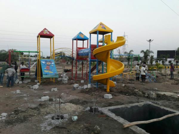 we are the manufacturer of children play equipment and Multi play systems Basketball and Tri cycle and Wheel barrow and Frp Fiber Dust and Indoor etc Web site. www.ssvplaysystms.com contact.9666663315