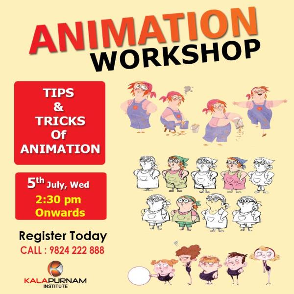 ANIMATION WORKSHOP Dear Student,   There is a chance to learn the tricks & tips of getting knowledge about
