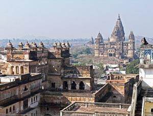 Orchha –  literally meaning the hidden is an architectural and natural gem. (For Package tour write to us uholidays@gmail.com or www.uniqueholidays.info ) It was the erstwhile capital of the Bundelas before moving to Tikamgarh and its great monuments speak about the grandeur of Bundela Kingdom. The River Betwa and Jamini along with the Orchha wildlife sanctuary provide it the complete beauty and character. Bundelkhand Riverside, Orchha – is situated on the banks of the Mystical River Betwa in a forested estate of 50 acres.