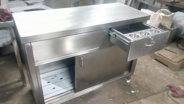 SS Cash Counter Table for Hotels