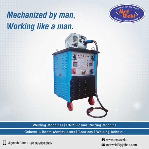 Co2 MIG machine provides faster production, easy cleaning, no spatter and is suitable for solid wire and flux cored. All these sums up to all manly qualities possessed by this machine from Metweld.   #CO2-MIG-WELDING-MACHINE #CO2-MIG-WELDING-MACHINE-Manufacturer #CO2-MIG-WELDING-MACHINE-Manufacturer-in-Ahmedabad #CO2-MIG-WELDING-MACHINE-Manufacturer-in-Gujarat #CO2-MIG-WELDING-MACHINE-Manufacturer-in-India