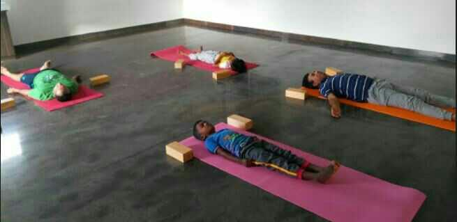 Best Iyengar Yoga Classes in Bangalore, near Nagarbhavi, Bharat Nagar:  Join our iyengar yoga classes at Divyamaya yoga centre near Nagarbhavi,  Bharath Nagar, Magadi Road, Bangalore. We provide yoga blocks, yoga mats, yoga chairs to support the yoga poses which are useful especially for new yoga students who are not so flexible in performing different yogasanas.