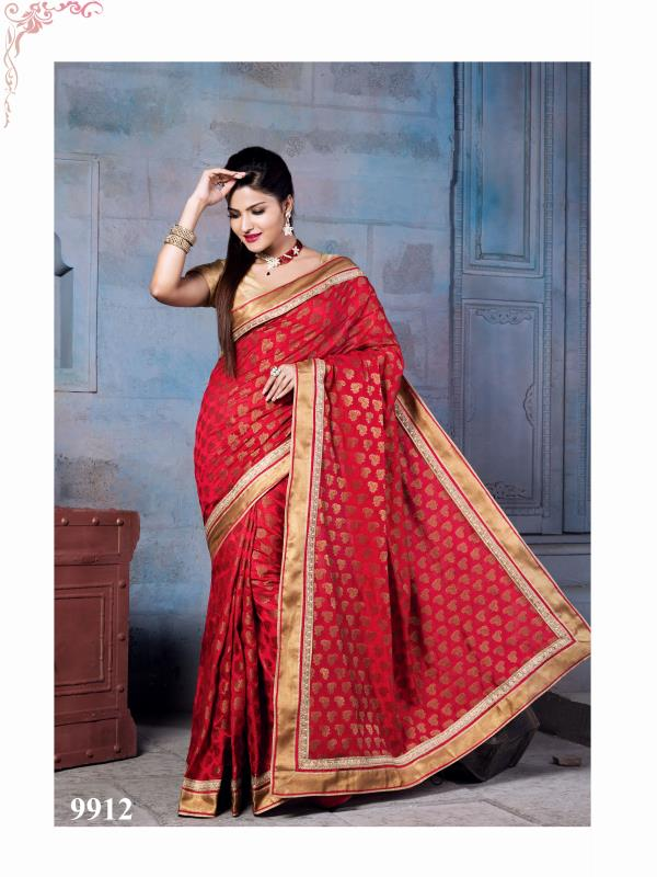 Silk Fancy Saree Delightful Red color saree planed on self zari block motif with Nylon Banarsi Zari silk is pleasing appearance. Outfit is feminine and cute in appearance  http://www.silk-india.com/en/designer-sarees/960--yellow-faux-georgette-brasso-saree-with-blouse.html