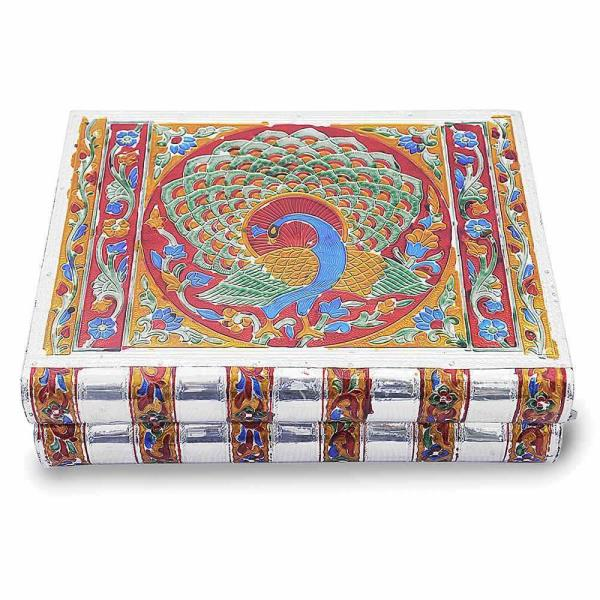 Buy Metal Colorful Meenakari Work Jewellery Box Online in Agra  This handcrafted meenakari Jewellery box is made of white metal and highlighted with colourful meenakari work all over. This handcrafted meenakari Jewellery box in stair case style to keep and showcase your valuable jewellery.  Click on the below link to view the product:  http://littleindia.co.in/metal-colorful-meenakari-work-jewellery-box-174/p596  We are Jaipur (Rajasthan) based prominent Manufacturer and Wholesaler of  Metal Jewellery Box. We Export Meenakari Work Jewellery  Box all Over the World on affordable prices. We are engaged in providing Finest Quality Minakari Jewellery Box Handicraft. We have wide range of Value for Money  Metal Jewellery Gift Box. This Metal Meenakari Handicrafts is prepared by village Craftsman and woman of Rajasthan. Visit our Jaipur factory outlet for Comprehensive Range Of Decorative Items.