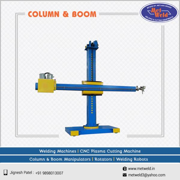 Column & Boom Manipulators are manufactured by Metweld with high precision automatic features that work on multi functional basis.   #Column-Boom-Welding-Machine  #Column-Boom-Welding-Machine-Manufacturers  #Column-Boom-Welding-Machine-Suppliers  #Column-Boom-Welding-Machine-Exporters  #Column-Boom-Welding-Machine-Dealers
