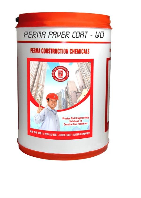 WE MANUFACTURE & EXPOTERS OF SHEEN COATING CHEMICLAS FOR PAVER & PAVER COATING CHEMICALS IN THE BRAND NAME OF PERMA.  A WATER BASED SHEEN COATING FOR PAVER TILES, CEMENT TILES & NATURAL STONE WHICH ENHANCES THE AESTHETIC APPEAL. DESCRIPTION Perma Paver Coat-WD is a milky white liquid which when applied neat or diluted on to a clean and dry paver, cement tile or stone surfaces gets absorbed deep inside and forms a protective barrier on the surface. It improves the aesthetic look of the surface by imparting gloss or semi gloss to the treated surface. It makes the treated surface resistant to staining and chemical attacks. It binds the surface particles to make the wearing surface strong.  COMPOSITION  Perma Paver Coat-WD is a milky white liquid based on acrylic copolymers and surface active agents. ADVANTAGES  Perma Paver Coat-WD penetrates the capillary structure and provides for a tough, clear protection films. Perma Paver Coat-WD on curing forms a glossy film. Perma Paver Coat-WD is resistant to oil, grease and stains. Perma Paver Coat-WD can be applied by even unskilled labourers. TYPICAL APPLICATION  Perma Paver Coat-WD can be used for paver blocks, interlocking pavers, natural stone and slate. DIRECTIONS FOR USE  Petma Paver Coat-WD can be applied with a hard sponge or a soft brush. One coat will seal, protect and make surface dust free.  Additional coats .will enhance gloss. Apply second coat after the first coat has dried off. Curing: Perma Paver Coat-WD will dry to tack free within 5 to 10 minutes depending upon temperature and ventilation.