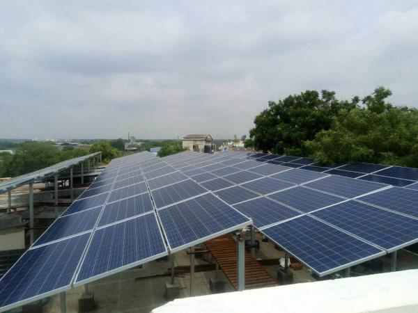 50 kw solar roof top power pla