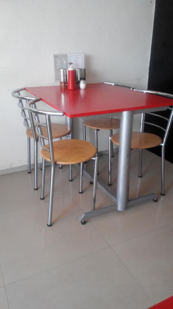 Hotel Table : We are manufacturers of wrought Iron Furniture  . Our range of products includes Table used for Restaurants . We make custom designed and  custom sized tables as per customers requirements . These are made in either Stainless steel or in Wrought Iron with Powder Coating . We can have any required Top for the table like Granite , or Laminated Plywood or Post formed Plywood . we also make Tables which can be of folding type . For more designs visit our website www.haitupune.com . We also make chairs in Stainless Steel and Powder coated steel for Restaurants