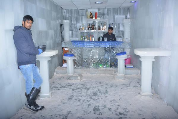 Life is Cold And Love is Yummy, Please Feel Free To Feel Your Tummy... India's First Ice Bar only At Snow Park Goa Visit Now
