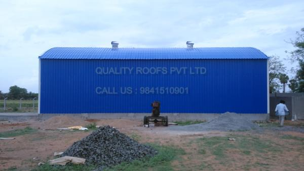 Diary Shed Roofing    We are undertaking all kinds of Diary Shed Roofing In Chennai. These are manufactured using top quality raw material and stand high in quality and utility. Our products are highly demanded all across the country because of their various distinctive features such as low maintenance, optimum quality and longer service life. We are offered Roofing Sheet Price In Chennai.