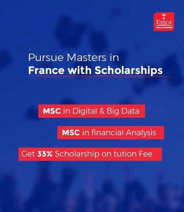 Hurry.................. Golden Opportunity for the students looking for abroad study.  - Study in Franch - 33% Scholarship on Tuition Fees - Easy Processing - Guidelines on Skype Round - Visa Assistance  you can get 33% scholarship on selected course.    What you know more information. Please approach us  Call : 8885586371 wtsapp : 8886670785 Email Id: info@visasvision.com Website : www.visasvision.com