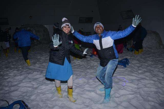 #Snow_Park is the place of happiness where fun in playing with snow never ends.