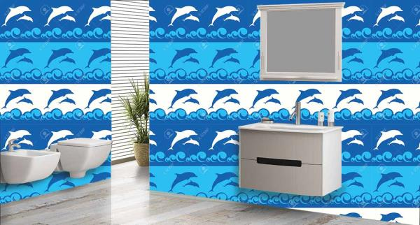 Enrich the walls of your bathroom with this superb 3D customized Bathroom Wall Tiles. These Bathroom Tiles can be used to decorate the walls of your bathroom. These 3D Bathroom Tiles will give a regal - by Mannmohh, Hyderabad