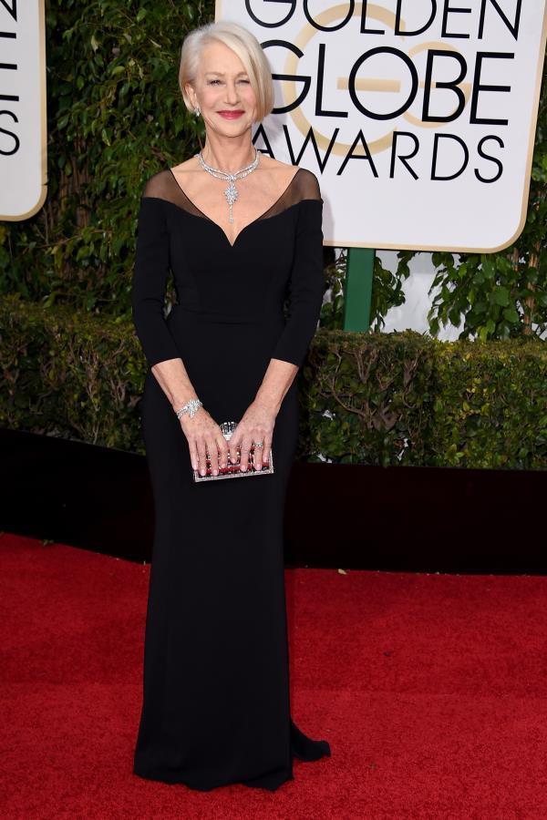 Golden Globes Red Carpet Celebrity Dresses 2016 - Custom Made - Helen Mirren Swap