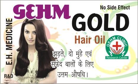 Gehm Gold Hair Oil  100% Herbal Hair Oil .  No Side Effects