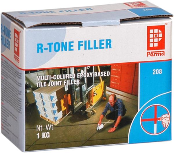 Colored Tile Joint Filler Supplier  Colored Joint Mortar is a two-component thixotropic epoxy resin based colored joint mortar utilized for substantial joints among stones and tiles. Colored Joint Mortar proffers aesthetic germ resistant, rigid wearing joints; this Joint Mortar can firmly withstand the any spillage or chemical attack. Part A of a Mortar comprises broad colored paste comprise Epoxy Resin, graded aggregates, pigments and additives. Part B of the Mortar contains an assortment of graded fillers and catalyst.  Perma R-Tone Filler (RTF) is a three component epoxy resin based mortar used for filling joints between acid proof tiles in the industrial floors, swimming pools, cafeteria, shopping malls etc. Perma R-Tone Filler provides aesthetic, germproof, permanent, hard wearing, chemical resistant joints for industrial floor tiles. It provides a smooth, hygienic and dust free floor tile joints.  ADVANTAGES  High compressive, flexural and tensile strengths in excess of concrete. Available in range of attractive colors-Ivory, Creamy Yellow, Golden Yellow, Creamy Pink, Frosty Brown, Copper Cloud, Pista Green, Sky Blue, Royal Blue, Terracotta Brown, Silver Grey, Leafy Green, Ocean Blue and many more. Chemical resistant and waterproof. Hygienic and non-dusting. Easy to use, easy to clean. Epoxy based, supplied in pre-weighted units. Will not support bacterial growth.