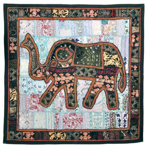 Buy Embroidered Applique Elephant Wall Hanging  Online in Akola  This Rajasthani applique Elephant design wall hanging is embellished with intricate hand embroidered resham work. The gift piece has been prepared by the creative artisans of Jaipur.  http://littleindia.co.in/embroidered-applique-elephant-wall-hanging-523/p638