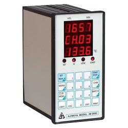 Data Logger Manufacturer In India Multichannel Data Logger Model : IM 2000 N Multichannel Data Logger is an electronic device which is used in different industries for recording data. This multichannel data logger can accept inputs from 2 / 4/ 6 / 8 / 12/ 16 / 20 / 24 / 32 / 48 / 64 sources. Our product range is available from 2 to up to 64 channels. Technical Specifications Display: 7 segment LED display / Alphanumeric LCD display / Graphic LCD display Sensor Inputs: RTD / Thermocouple / mV / mA / load cell / Universal Number of channels: 2/4/6/8/12/16/20/24/32/48/64. Memory: 32k / 64k / 2MB / USB Flash etc Connectivity: RS232 / USB / RS485 / Ethernet TCP/IP etc Protocol: Modbus / Text etc. Options: SMS alarm / Centronics Printer interface / Individual Channel Alarm / Grouping of channels Alarm: High/ Low / Very High / Very Low / Common relay/ Two relays/ Individual Channel Relays Log Interval: Minute. Seconds / Hours. Minutes etc Supply: AC Mains operated / DC Operated Enclosure: Panel Mount / DIN Size / Wall mount / Table Top / Flameproof