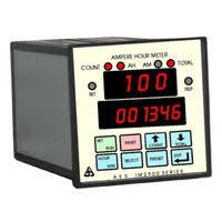 Ampere Hour meter Manufacturers in mumbai 4 Digit Ampere Hour Meter IM 2501 is an engineering device used to measure total electric charge that passes through given point at specific time. The device is demanded for battery charging and electroplating purposes. It controls the rectifier as it is integrated with a set point. The device is having 4-digit display which shows amount of current flowing in the circuit, therefore there will be no need to attach extra ammeter in the circuit. Technical Specifications 4 digit 12.5 mm red led display 8 key membrane keypad One set point with relay output rated 230 V / 5 A (resistive) Ampere Hour / Ampere Minute selection or Ampere minute / Ampere second selection Shunt value programmable at 75mV External Reset facility Size 96x96 mm depth 150 mm Supply 230 V / 110 V / 10-30 V DC or 48V DC Ampere Hour meter Manufacturers in mumbai