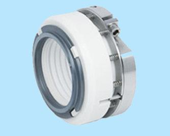 Ptfe Bellow Seal Type (LIE/707): Multi spring externally mounted, non pusher designed, suitable for handling extremely highly corrosive liquids. The contact parts of the fluid is PTFE and GFT composite bellows which are hydraulically balanced. All components which come in contact with the liquid being sealed are made of chemically inert material. The seal has no dynamic elastomers and hence, no fretting damage on the shaft. The rotary face is designed to replace and remove the worn out faces in a very short time and stationary part is designed with two side lapping, So if one lapping face damage , second side lapping can be used. Springs are PTFE coated to withstand corrosion attack from strong acids and hazardous environment.