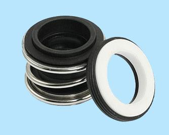 Rubber Bellow Seal(LIE/709) : It is single seal unbalanced type with single coil spring and long elastomer bellows . Single coil spring seal with rubber bellow mainly for application in waste water treatment plants, sewage, plain water, cooling tower pumps applications. The rubber bellow protects the shaft/sleeve from fretting. The bellows are no subjected to any torsional stress. Torque transmission is through the spring and spring holder. Self aligning features accommodate abnormal shaft run out and primary sealing wear. The single coil spring will avoid effluent particles. It is mainly used for water pumps , submersible pump and sewage pump and water filtration Plant Etc…