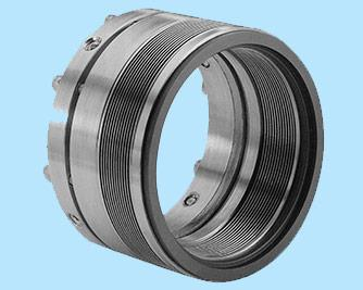 Metal Bellow Seal (LIE/710) : Metal bellow seals are for high temperature moderate pressure applications pumps. Like chemical, petrochemical, thermic fluid, boilers and refinery process unit, this seals are independence of direction of rotation and suitable for process services requiring corrosion resistance. This bellow seal is designed of Diaphragms type at the edges to form a bellow unit. There is no need of a springs, secondary seal and it provides flexibility to the seal face. This seal is available in two types of elastomer rubber o ring & grafoil to be use in extreme temperature conditions. It is mostly recommended for high temperature liquids , thermic fluid , boilers Refinery , petrochemical , chemical etc