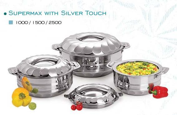 As per our policy of continuous innovation. We have introduced Supermax Steel Hot Pot with Tool Touch feature. It is more demanding in Saudi Arabia.