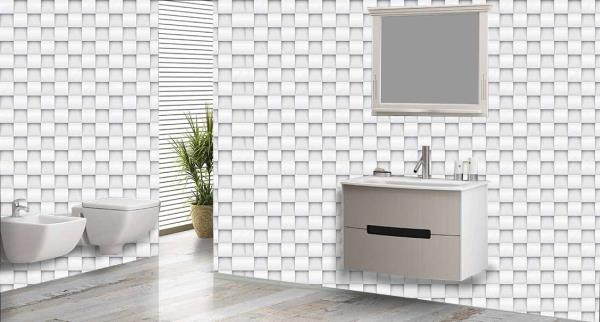 Enrich the walls of your bathroom with this superb 3D customized Bathroom Wall Tiles. These Bathroom Tiles can be used to decorate the walls of your bathroom. These 3D Bathroom Tiles will give a classic look to your bathroom. The best feature about these Bathroom Tiles is that they are super easy to clean and are 100% water proof and heat resistant.   We are the only Ceramic Tile Dealers who can customize the design of the tiles as per your wish and requirement.   We are the only Vitrified Tile Dealers in entire Hyderabad to provide you with these new and excellent 3D Bathroom Tiles.