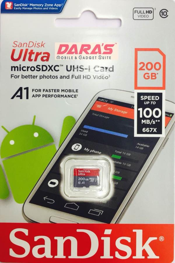 200 GB MICRO SD CARD , DARAS PRICE  @ 7800/- with GST BILL & warranty