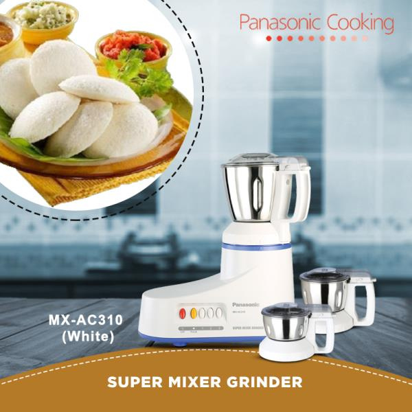 Panasonic's MX-AC310 Super Mixer Grinder features the signature Unique Oil Seal Protection and reliable Unique Double Safety Locking System that these appliances are fitted with. Equipped with the new Multi Jar, this Mixer Grinder has every - by 21 Times Better, Chennai