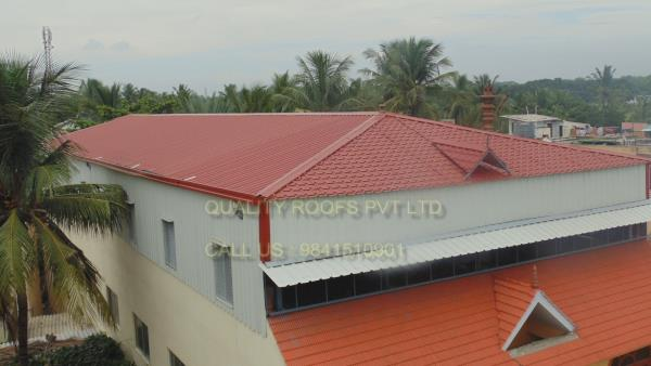 Metal Roofing In Chennai    We are the leading Metal Roofing In Chennai. These metal roofs are widely utilized in various industries The equipment offered by us are built by using fine quality raw material to ensure it is at par international norms and standards. These equipments are offers strong construction, durability and high performance. These parts are subjected to various tests and checks based on strict parameters in order to deliver zero defect products to the clients. We are providing Roofing Sheets In Chennai.