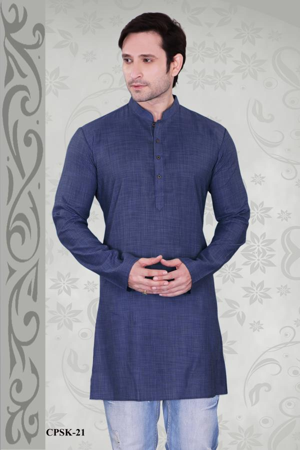 Prominent Navy Blue color kurta with Dupion Plain short kurta is to make a bold statement is dashing. Spread your charm everywhere with this outfit.  http://www.silk-india.com/en/kurta-pajama/1153-beige-poly-dupion-readymade-kurta-with-churidar-g15.html