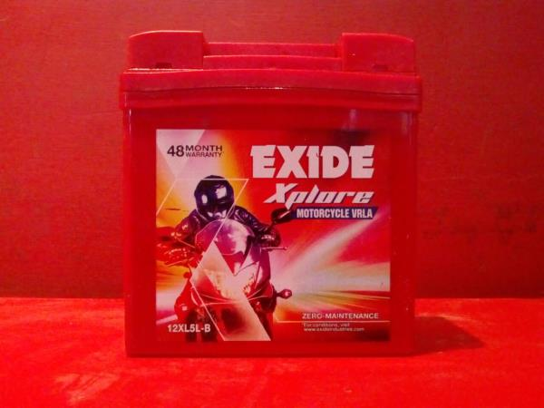 Exide xplore VRLA battery for two wheeler