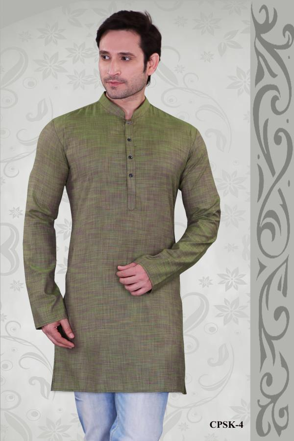 Prominent Green color kurta with Poly Cotton Plain kurta is to make a bold statement is dashing. Spread your charm everywhere with this outfit.   http://www.silk-india.com/en/kurta-pajama/1142-beige-poly-dupion-readymade-kurta-with-churidar-g15.html