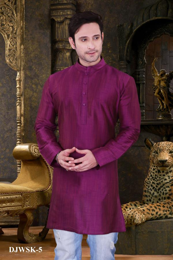 Dashing Purple color Dupion Jute silk short kurta will definitely touch your soul. You will definitely love our dazzling collection.  http://www.silk-india.com/en/kurta-pajama/1132-beige-poly-dupion-readymade-kurta-with-churidar-g15.html