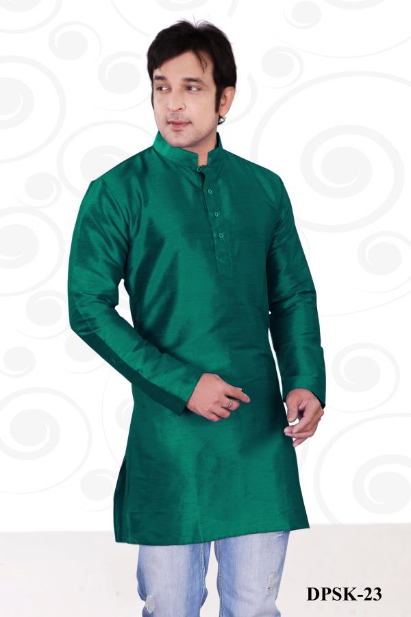 Glowing dusty Rama color short kurta planed on Dupion silk paired matching bottom is pleasing appearance. Get the opportunity to be the best with this outfit.  http://www.silk-india.com/en/kurta-pajama/1117-beige-poly-dupion-readymade-kurta-with-churidar-g15.html