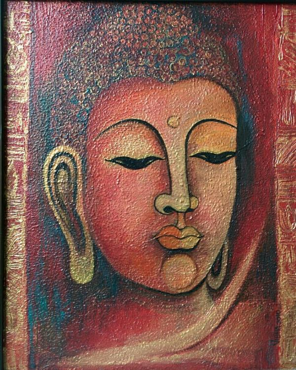 Buddha - Acrylic on paper - 18