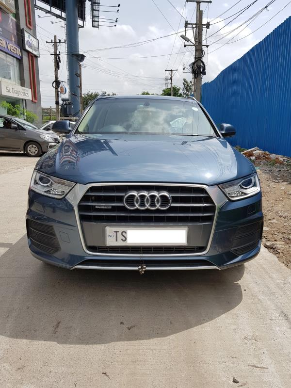 Used Audi Q3 for sale in Hyderabad:  2015 Audi Q3 35 TDI Quattro Premium 24, 700 km done Insurance valid till Sep 2017 Asking price: 33 lakhs  Wheel Deal Top Quality Pre-Owned Cars - by Wheel Deal, Hyderabad