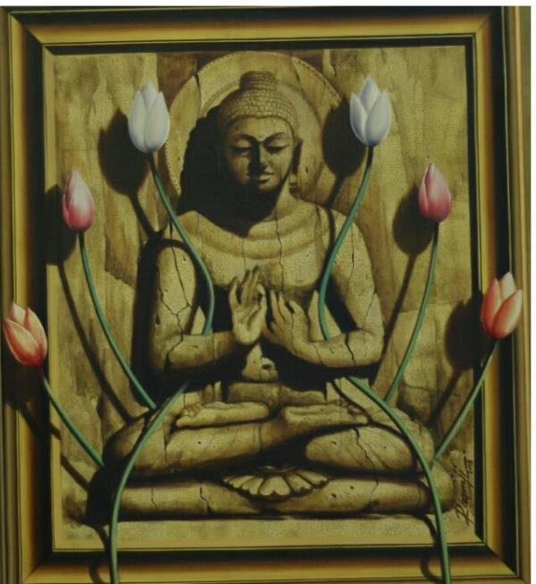 Buddha Oil on canvas _ 24