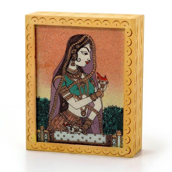 Buy Ethnic Gemstone Painted Wooden Ethnic Jewelry Box Online in Ambala  This Handcrafted Jewellery Box is made of wood and decorated with Gemstone bani thani Painting. The painting is hand made with finely crushed real gemstones on a glass base, which is a traditional art. The gift piece has been prepared by the creative artisans of Jaipur.  Click on the below link to view the product:  http://littleindia.co.in/ethnic-gemstone-painted-wooden-ethnic-jewelry-box-355/p458