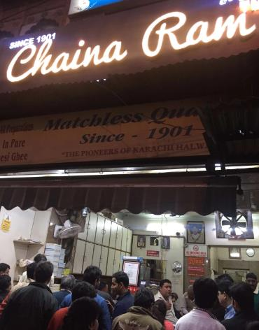 Chaina Ram Sweets, Chandni Chowk  116 year old. And counting. That's Chaina Ram Sweets for you. This sweetmeat store had originally opened for business in the city of Lahore in the year 1901. During the partition, the owners decided to shift to Delhi. Ever since they've been giving the people of Delhi a reason to put something sweet in their mouths. Their Karachi Halwa in particular has become their best seller and like all of their produce, it is made with 100% Pure Desi Ghee. Now that's what you call legit Desi Love (the edible kind that you eat of course).  Address: 6499, Fathepuri Chowk, Chandni Chowk, New Delhi  Contact: 011 23927585, 011 23950747  Cost: Rs.200 for two  Explore More: https://www.delhipedia.com/Home/Category/Eat