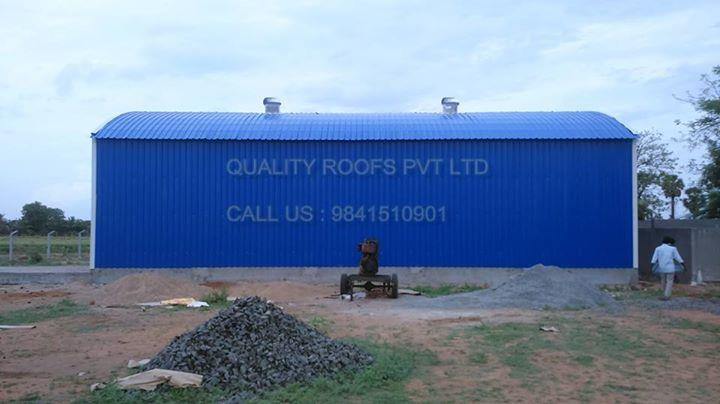 Poultry Shed Roofing    We are the leading Poultry Shed Roofing. Offered sheds are highly used in poultry farms worldwide. These Poultry Sheds are manufactured by a team of expert professionals making use of ultra-modern technology and tools. The dedication in work can be clearly seen by the designs we provide to our valued patrons. Customers can avail these qualitative Poultry Sheds from us as per their needs and requirements. We are the  best Roofing In Madurai. For more info visit us at http://qualityroofs.in/bizFloat/599535125094f50bc44c28e8/Poultry-Shed-Roofing-We-are-the-leading-Poultry-Shed-Roofing-Offered-sheds-are-highly-used-in-poultry-farms-worldwide-These-Poultry-Sheds-are-manufactured-by-a-team-of-expert-professionals-making-use-of-ultra-mode