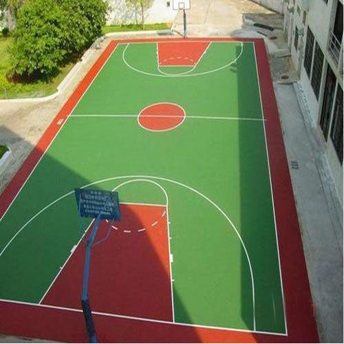Synthetic Basketball Flooring  We Sundek Sports Systems are manufacturers of Synthetic Basketball Flooring in Mumbai.  As well as in India. Sundek Sports Systems brings forth for our clients a international standard Synthetic Basketball Floorings. Excellent quality material and advanced technology is employed in the laying process so that our Synthetic Basketball Floorings is in tandem with international quality standards.  Features:  Durable Anti-skid surface Have a consistent ball bounce