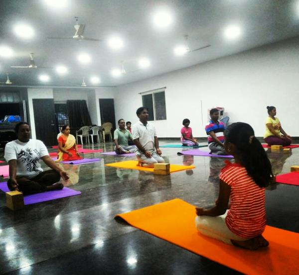 Best Yoga and meditation Classes near Nagarbhavi: We conduct various yoga styles like power yoga classes, astanga yoga classes,  vinyasa yoga classes, patanjali yoga classes, kundalini yoga classes, basic yoga classes for beginners, intermediate yoga classes, advanced yoga classes, karma yoga classes, jnana yoga classes, Kids yoga classes, dhyana yoga classes, bhakti yoga classes, satsanga, bhajan classes, music classes and much more to feel every one to be happy in physical, mental, intellectual, emotional and spiritual level. Learn all these classes at Divyamaya yoga studio / transcendental yoga centre. Call  and register now!!!