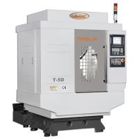 DRILLING MILLING CENTER PREMIER ENGINEERS OFFERS MODELS T-5D/ T-5i/ T-7D / T-7i Table sizemm 650x400 / 650x400 / 850x400 / 850x400 X/Y/Z Travelmm 500x400x310 / 500x400x310 / 700x400x310 / 700x400x310 Spindle- BT30 12000rpm / BT30 20000rpm / BT30 12000rpm / BT30 20000rpm Spindle Nose to Table Surface mm- 180-490 / 180-490 / 180-490 / 180-490 Spindle Nose to Z-covermm - 412 / 412 / 412/ 412 State of Art Machine Structure Optimal Rigidity & Stability T Series Drilling Milling Center is Compactly constructed to Exhibit extra High Smooth Drilling / Tapping as well as Milling Operation. With Maximart Drilling Milling Center You can get Higher Machining Efficiency & Productivity.